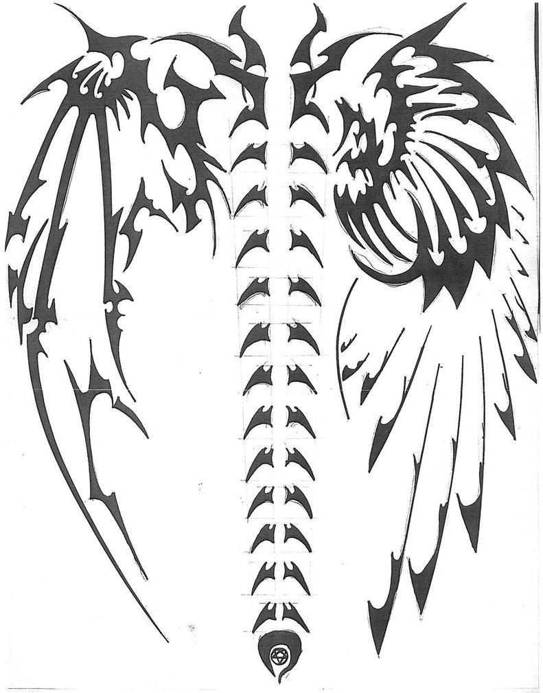 Drawn demon tribal #6