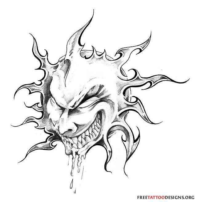Drawn demon tribal #8