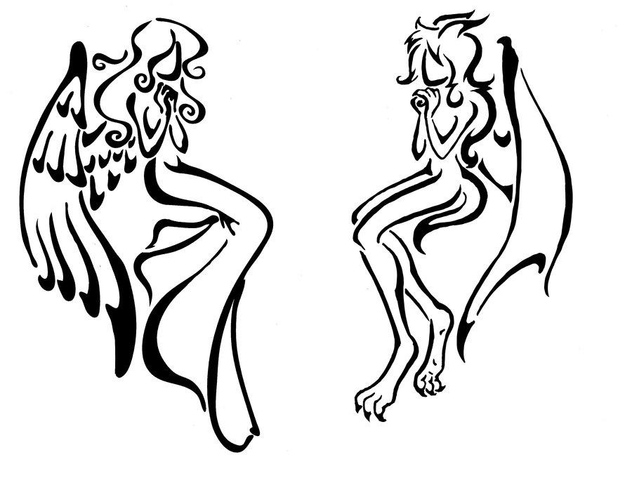 Drawn demon tribal #5