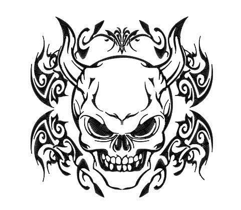 Drawn demon tribal #2