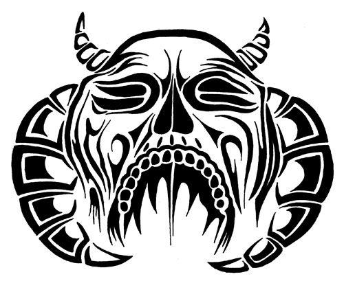 Drawn demon tribal #14