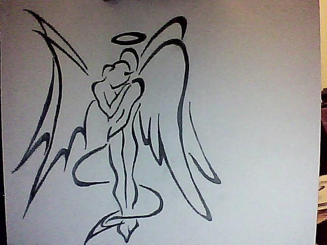 Drawn demon tribal #13