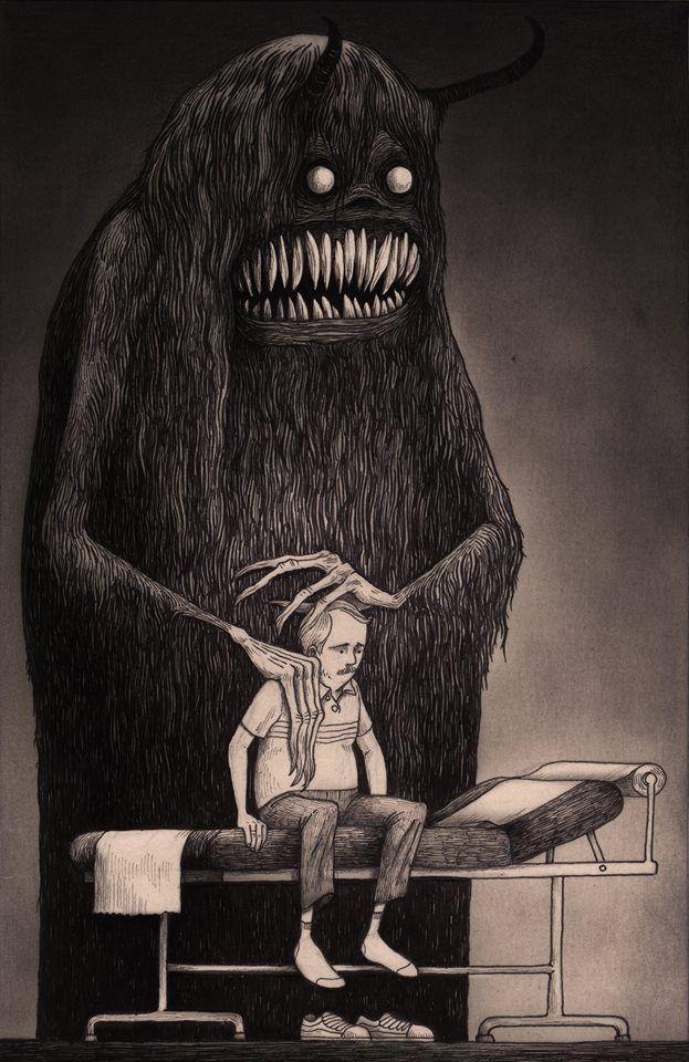Drawn depression Depression Pinterest Mortensen illustration Kenn