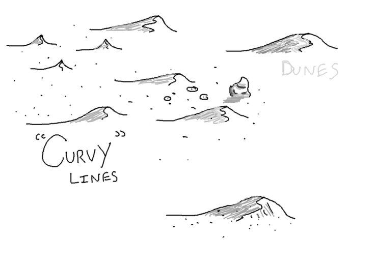 Drawn desert (736×523) jpg  Google hand
