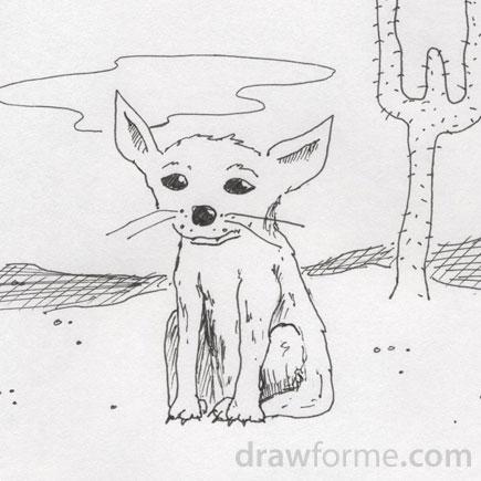 Drawn desert Fox desert Draw Me For