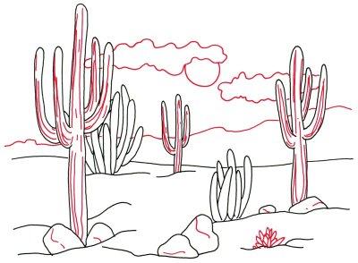 Drawn desert To How Draw 4 Steps