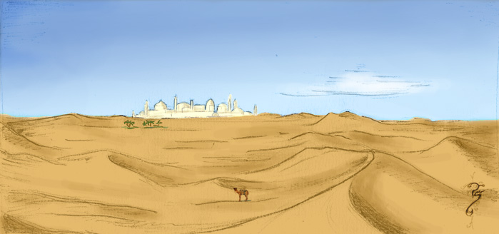 Drawn desert By City Luned Luned on