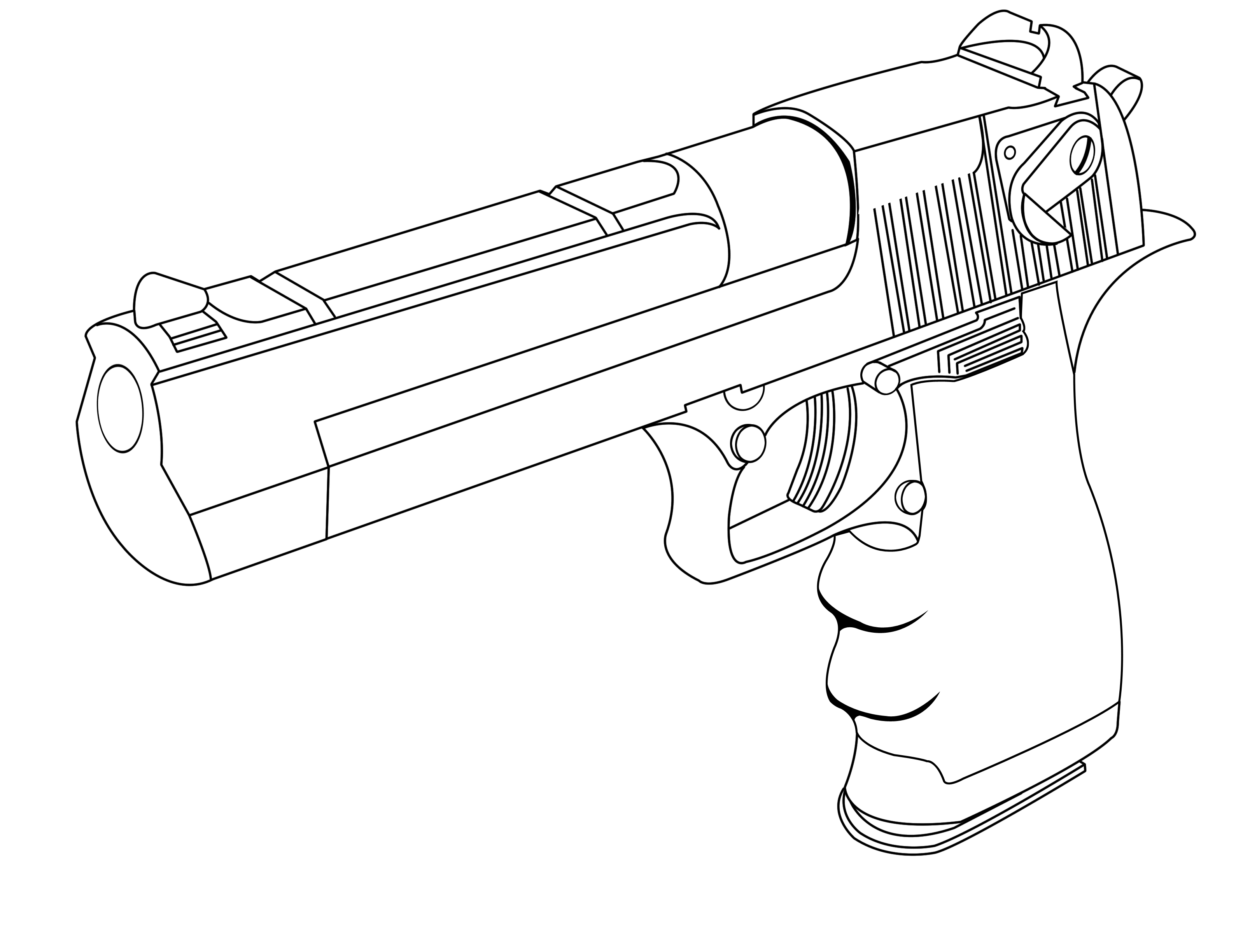 Drawn gun desert eagle #13