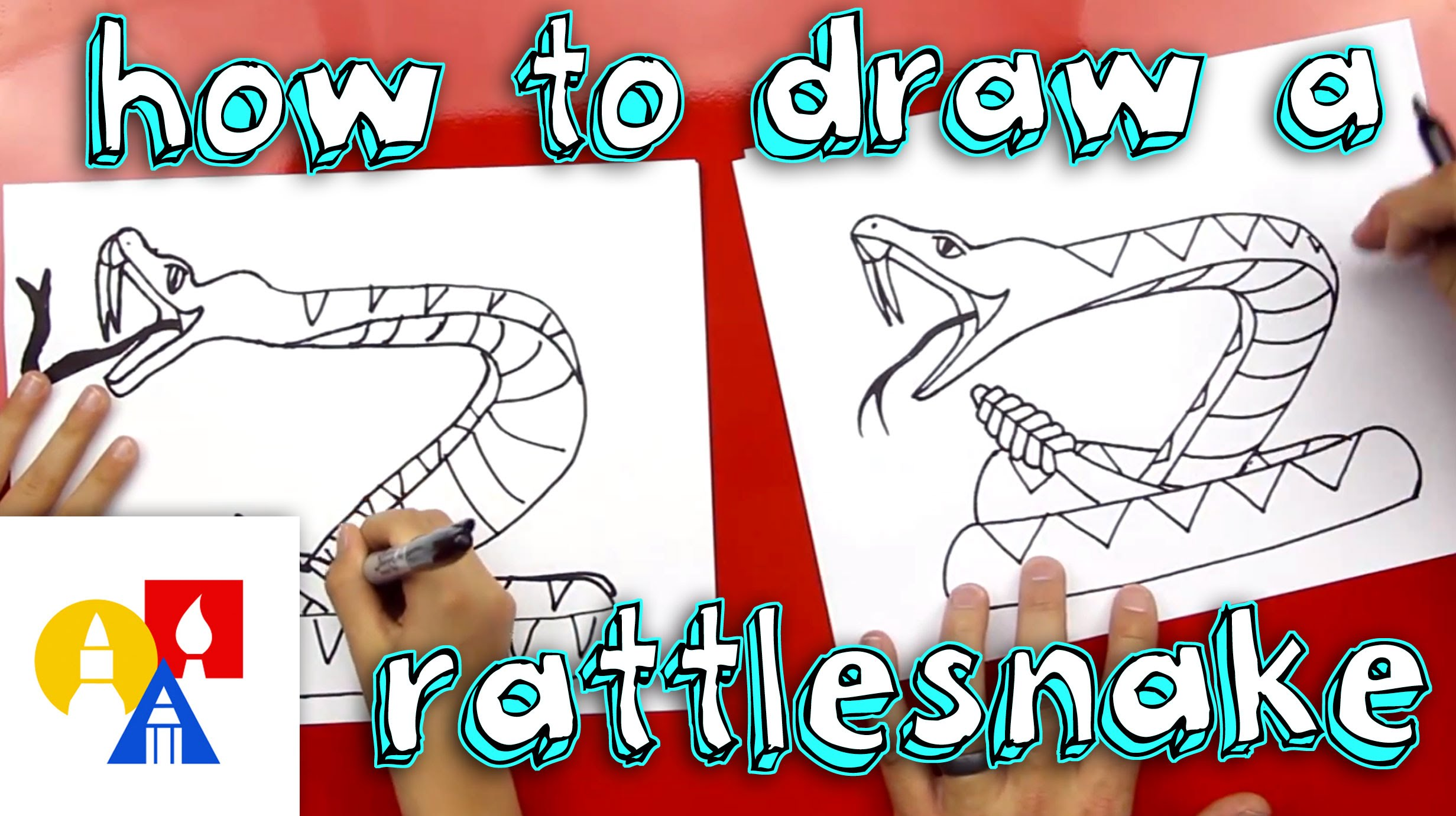 Drawn snake kid Rattlesnake  Draw How A