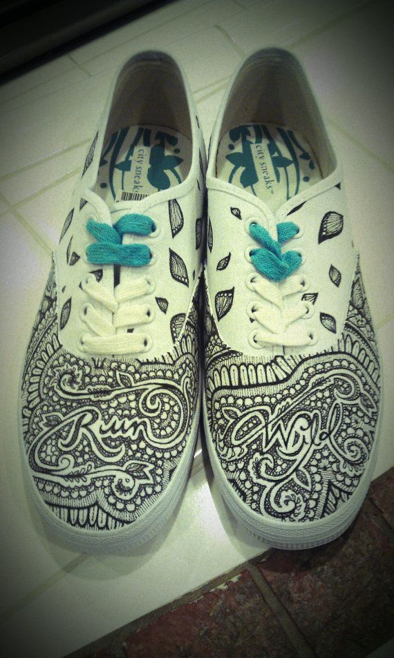Drawn sneakers canvas shoe GMLdesigns Handpainted by on SHOES