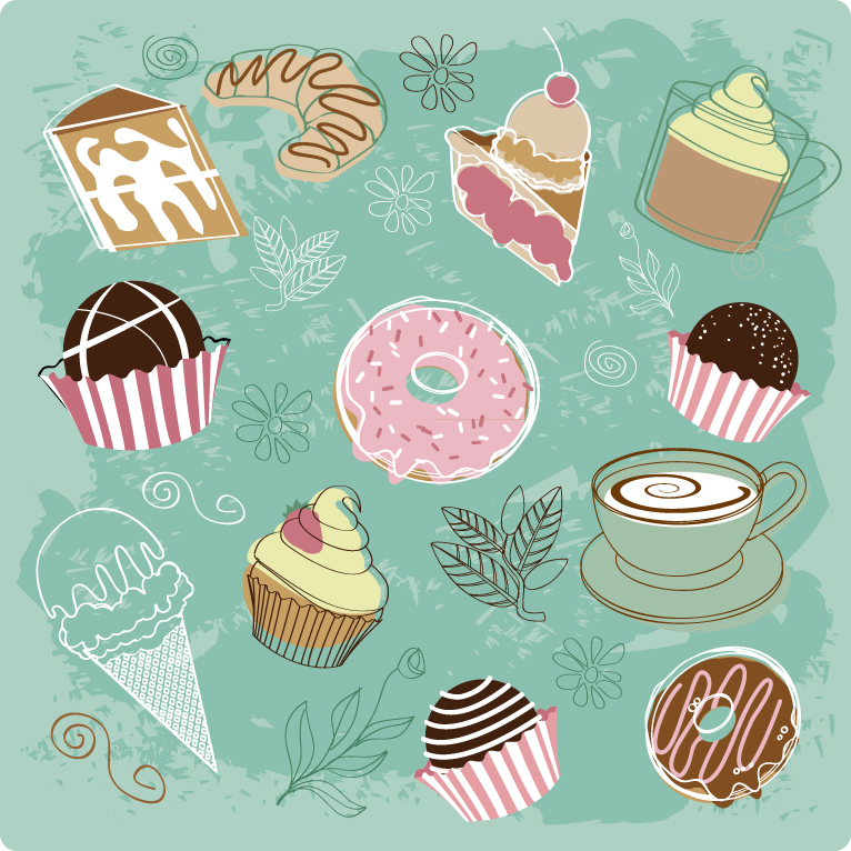 Drawn dessert Hand Free Drawn Dessert Download