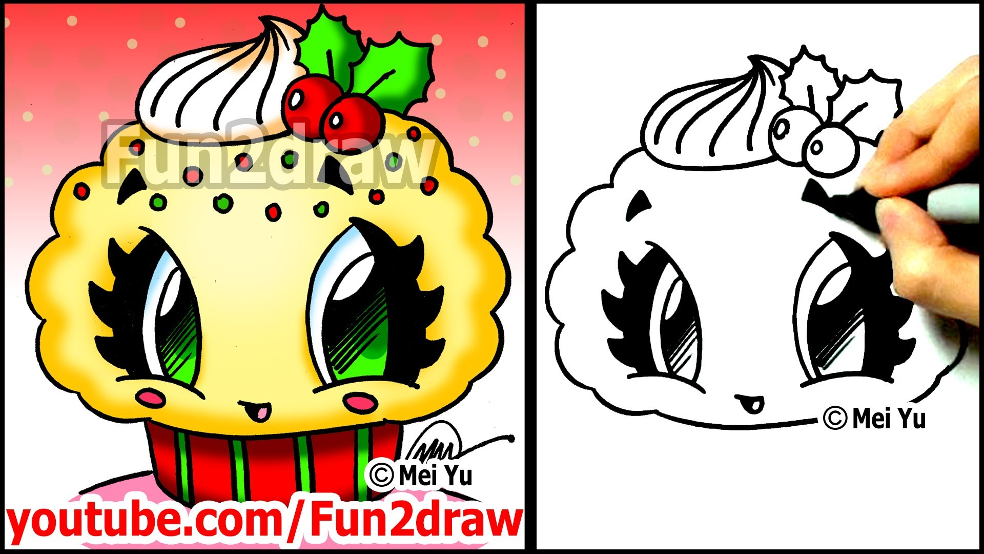 Drawn santa mei yu With Christmas Desserts Holly Desserts