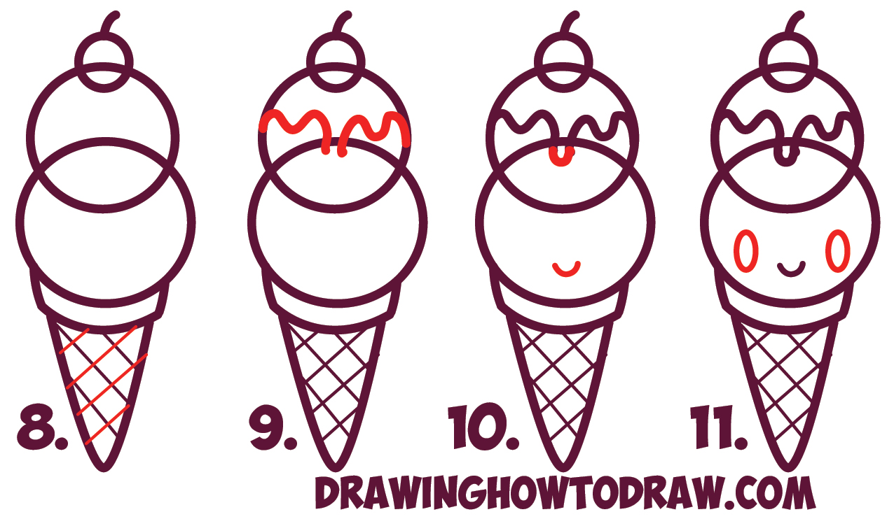 Drawn ice cream beginner step by step To Cream Cute with Learn