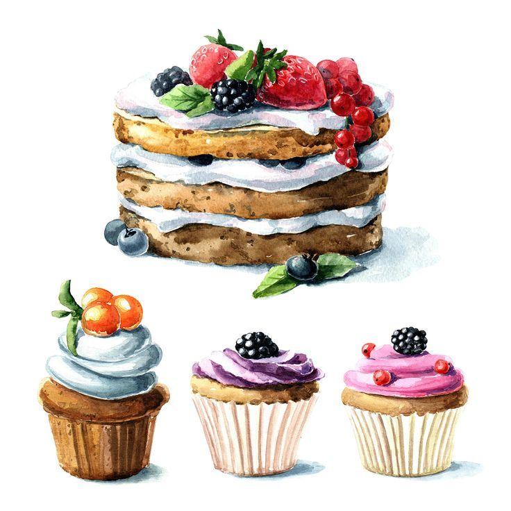 Drawn cupcake cake art Art drawing Best Pinterest drawing
