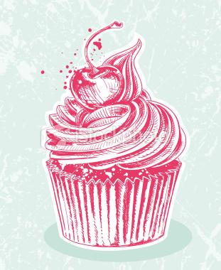 Drawn cupcake bloody Doodles drawing – Zentangles Illustration
