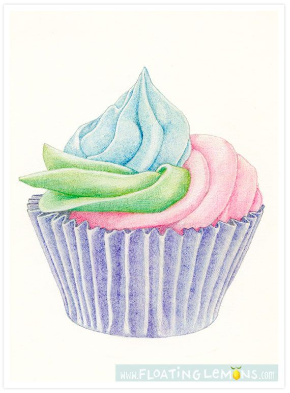Pastry clipart orange cupcake On Quick Sketch: Cupcake Floating