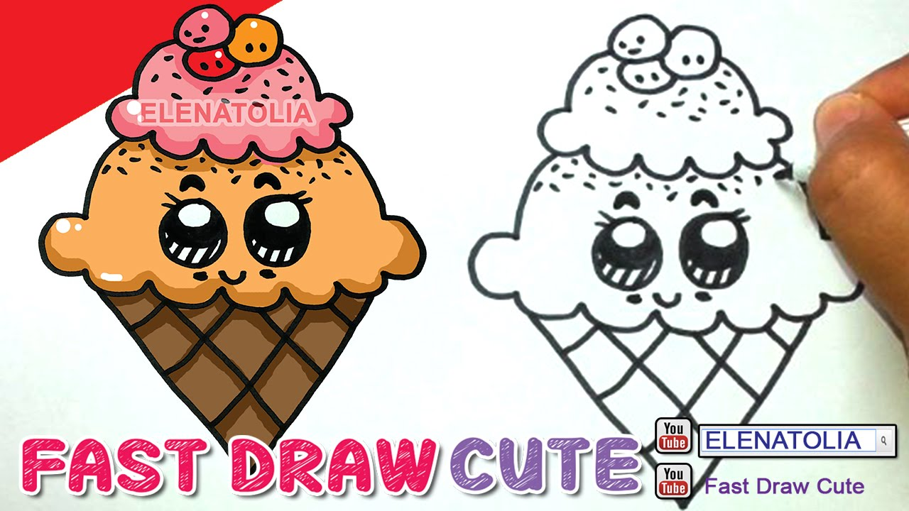 Drawn ice cream cute Step to Fast CREAM by