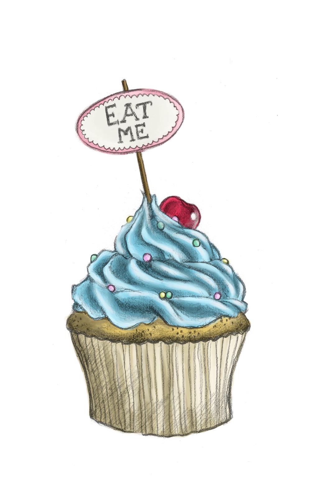 Drawn cupcake cake art For > dibujos eskulanak con
