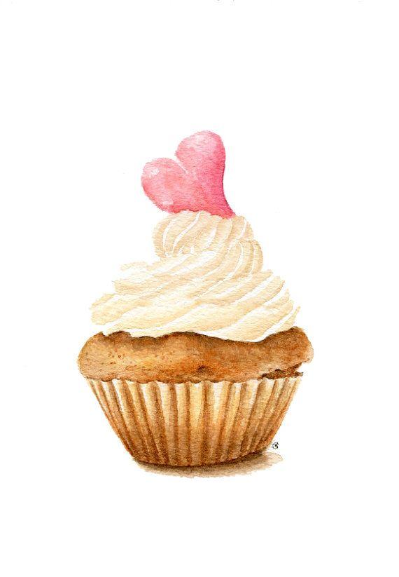 Drawn sweets colorful cupcake Life) Wall 25+ Food Painting