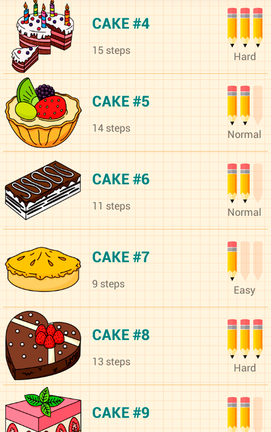 Drawn sweets easy Play to Desserts Android Draw