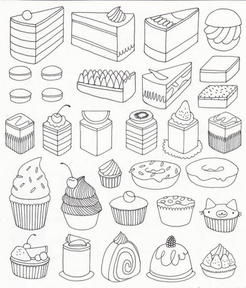 Drawn cupcake cake art Estampar remeras Step com www