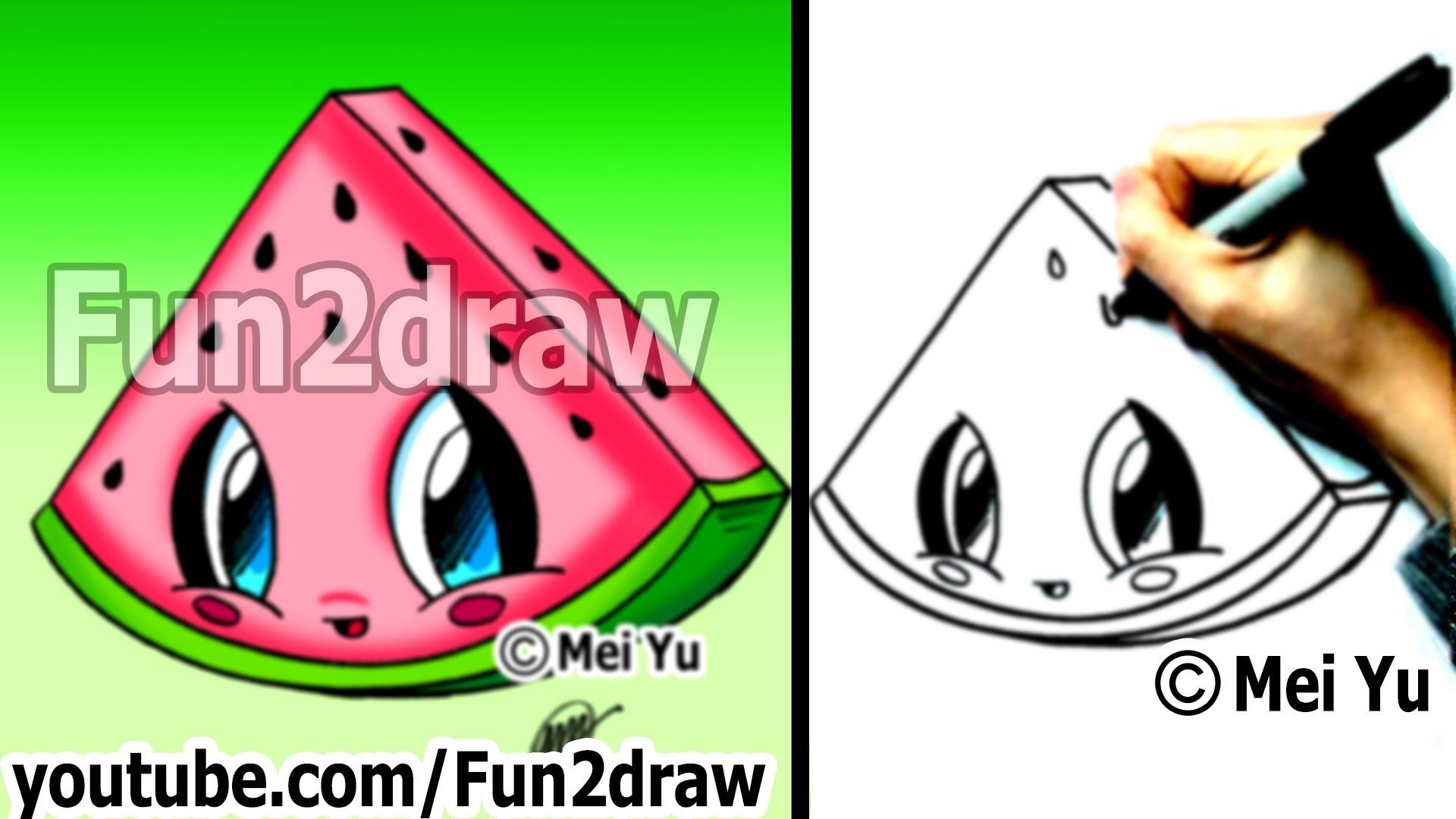 Drawn amd fun Popular  Watermelon art Drawing