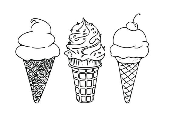 Drawn waffle cone Ice ideas on Best Ice