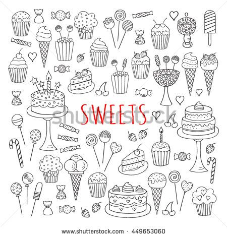 Drawn candy dessert #1