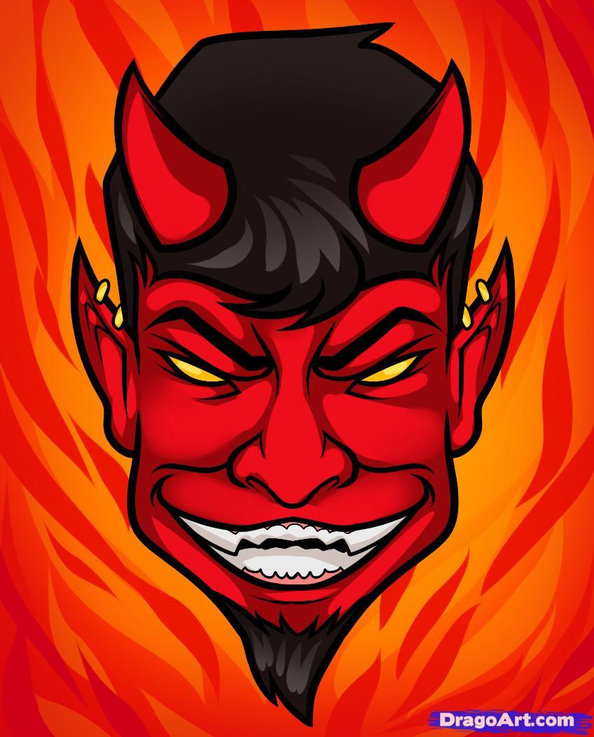 Drawn devil FREE Face Pop How Step
