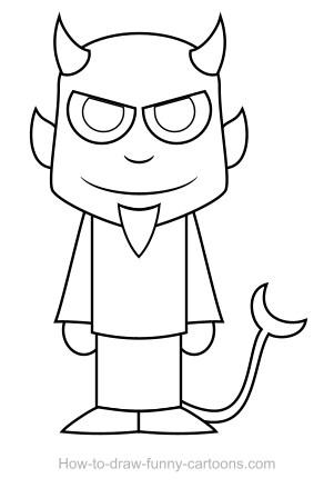 Drawn devil +  vector) drawing Devil