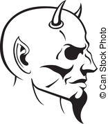 Drawn devil Devil Devil 32 vector Clip