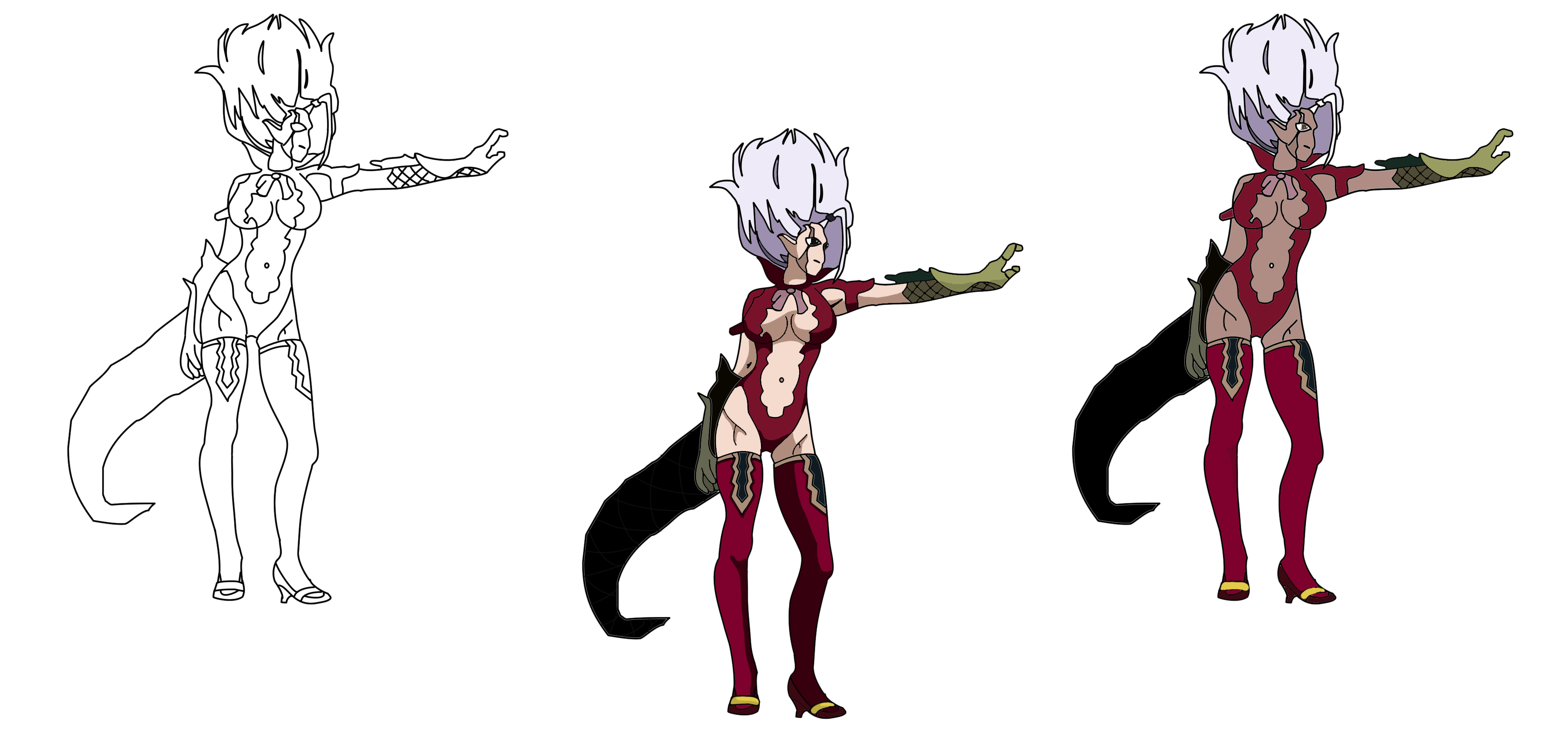 Drawn devil By Mira and and drawn