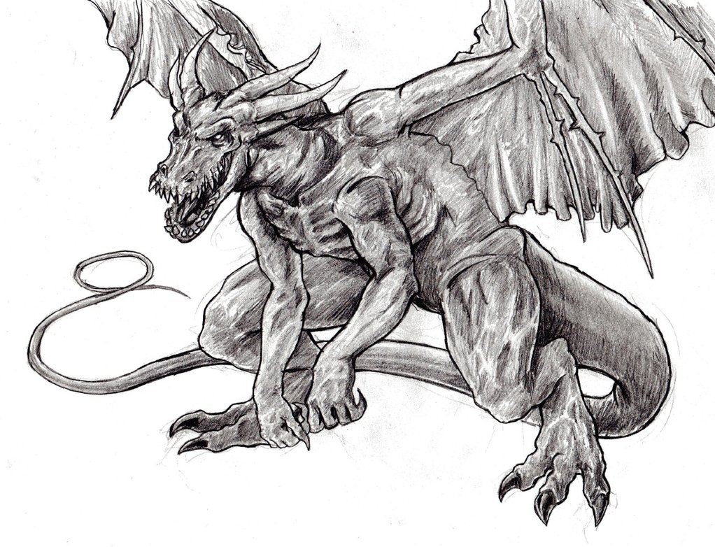 Drawn devil dragon #7