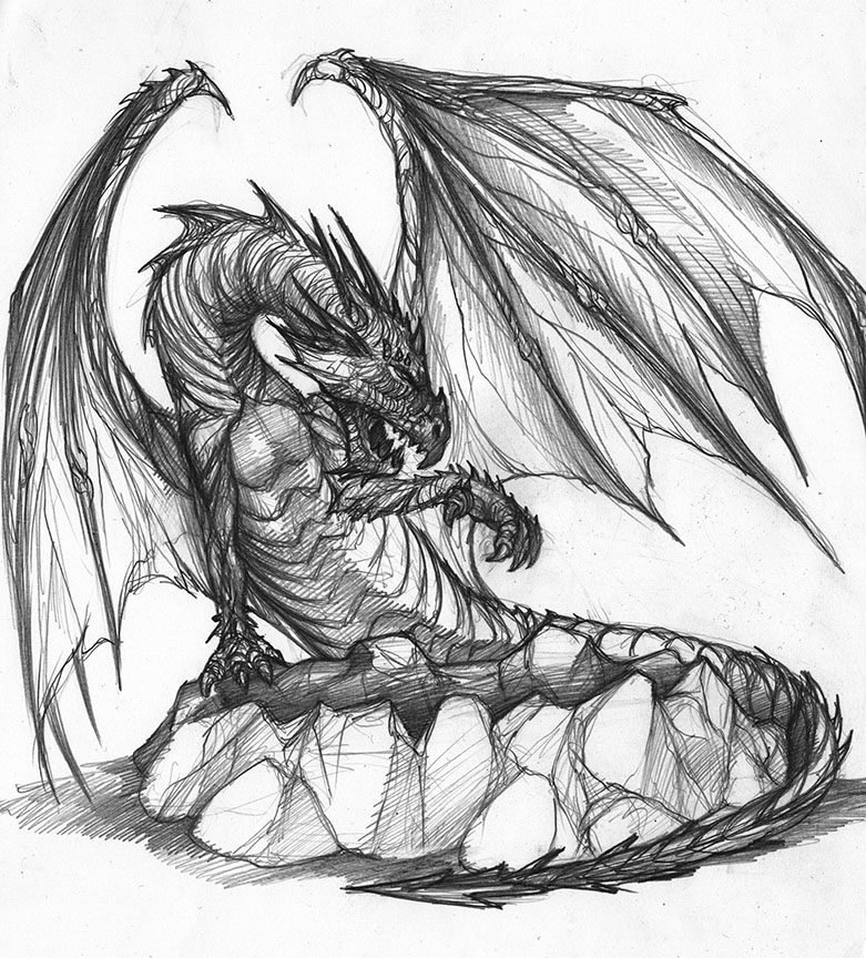 Drawn devil dragon #14