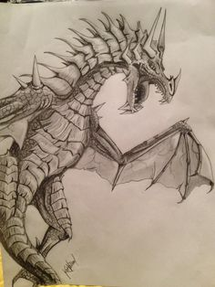 Drawn devil dragon #9