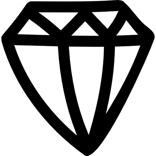 Drawn hearts diamond View hand Icon Icons side