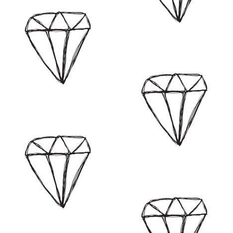 Drawn diamond Sketch diamond Spoonflower fabric diamond