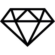 Crystals clipart diamond outline Para drawing imagem on DrawingDiamond