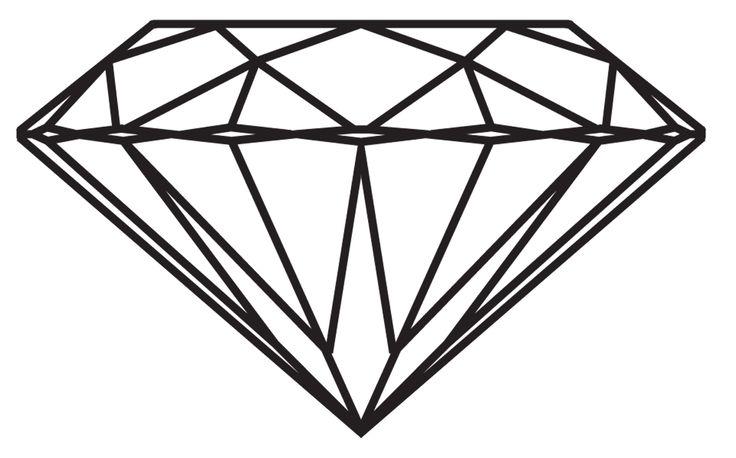 Drawn diamond Realistic Diamond Drawing Art Diamond
