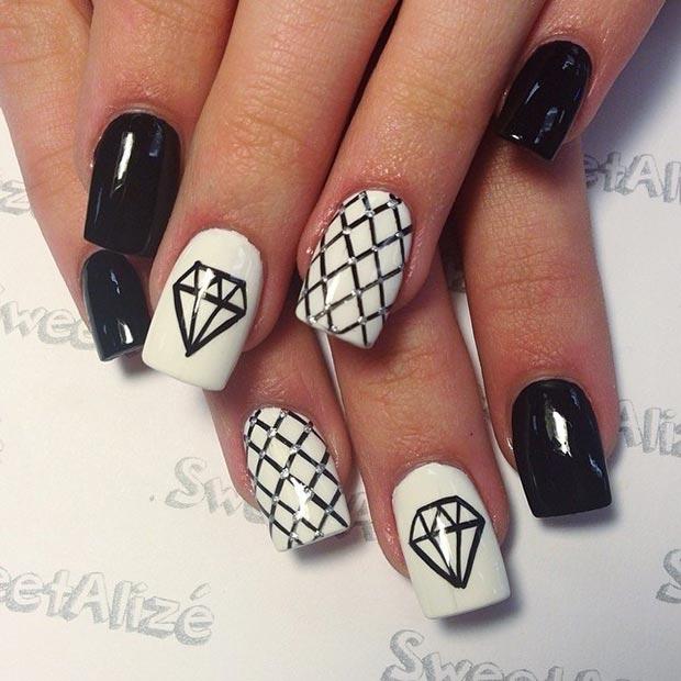 Drawn nail cartoon 50 Designs Nail White