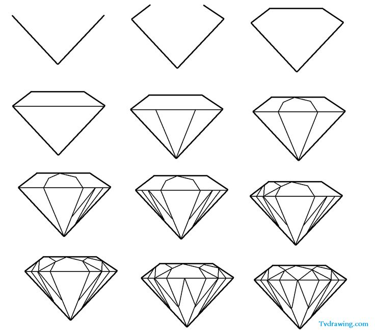 Crystals clipart diamond outline I images wish Pinterest crafting
