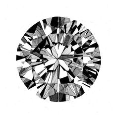 Drawn shapes diamond SketchDiamond  proportioned original and
