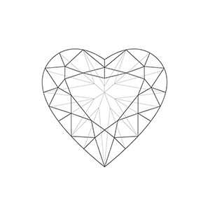 Drawn hearts diamond Centre Shaped Information Online Information