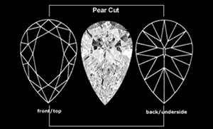 Drawn diamonds shape cut #12