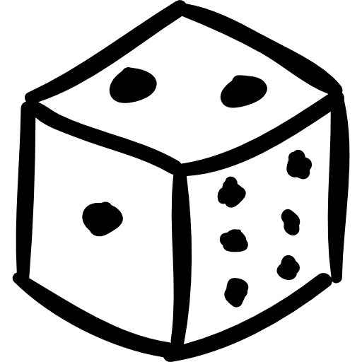 Drawn dice Icons other Dice icon cube
