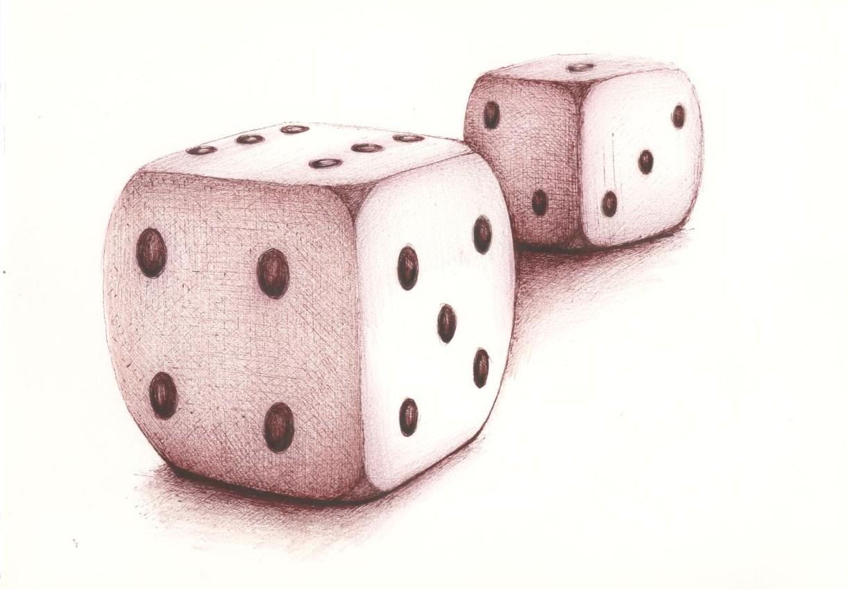 Drawn dice We sketchblog: Drawing Drawing around