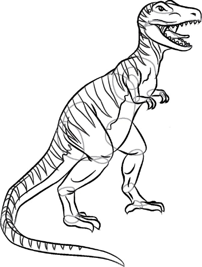 Drawn dinosaur Draw HowStuffWorks Rex Dinosaurs to