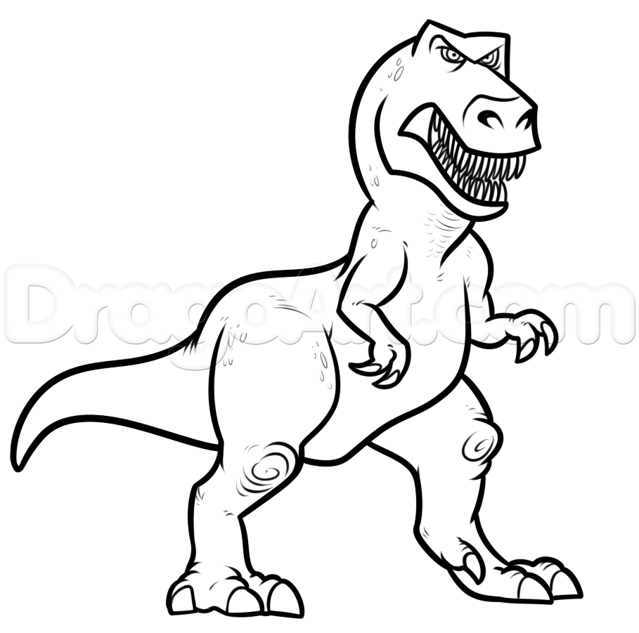 Drawn dinosaur Butch How the 7 draw
