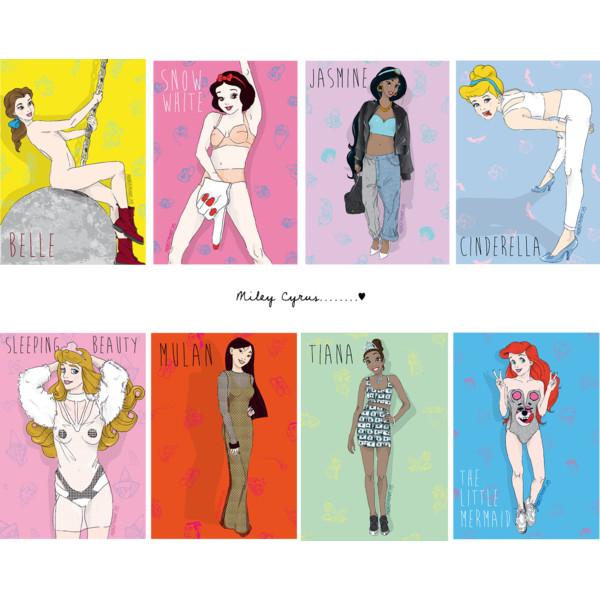 Drawn princess collage As as Polyvore Princesses 9