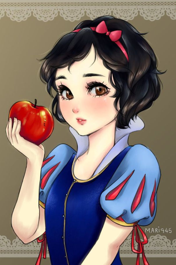 Drawn anime disney princess #7 As Anime Bored Panda